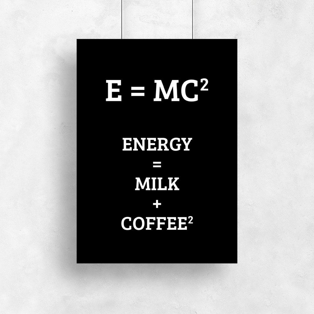 Plakat Typograficzny Z Motywem Kawy