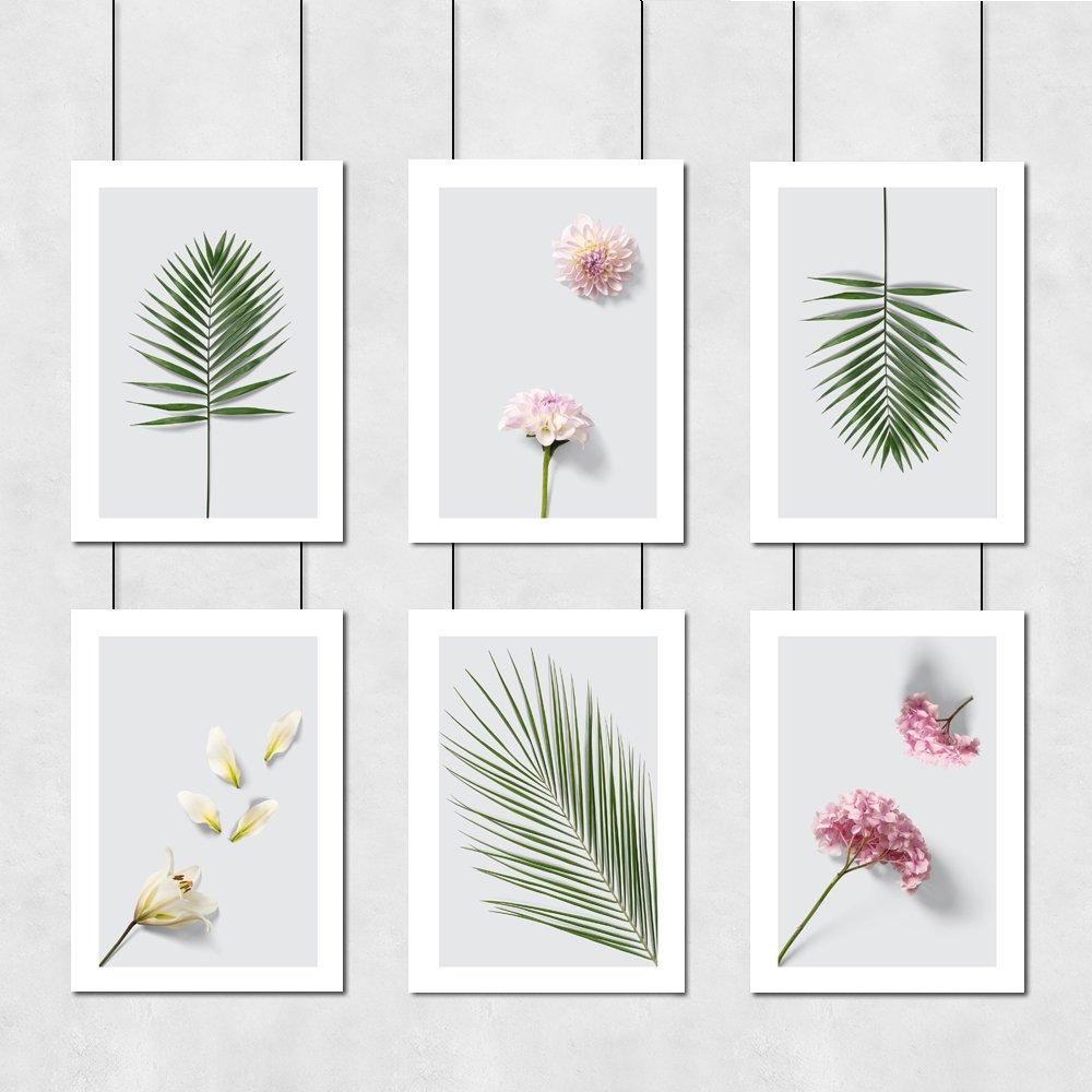 Liście I Kwiaty Zestaw Plakatów