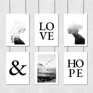 Skandynawski zestaw plakatów do dekoracji salonu