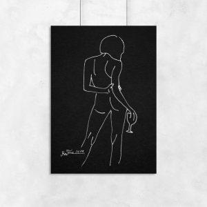 plakat minimalistyczny szkic kobiety