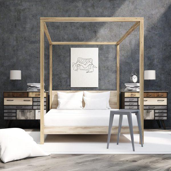 Dekoracja wnętrz do sypialni