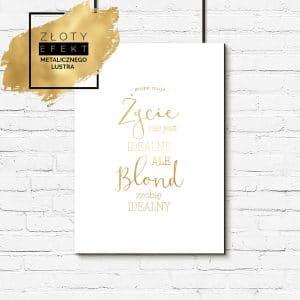 Złoty plakat do salonu fryzjerskiego