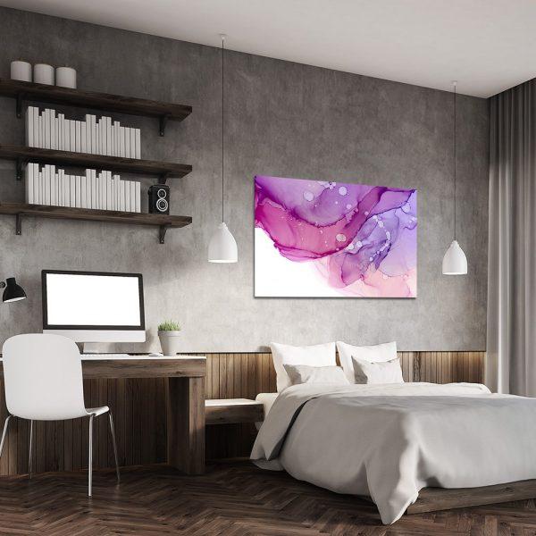 Różowy obraz do sypialni