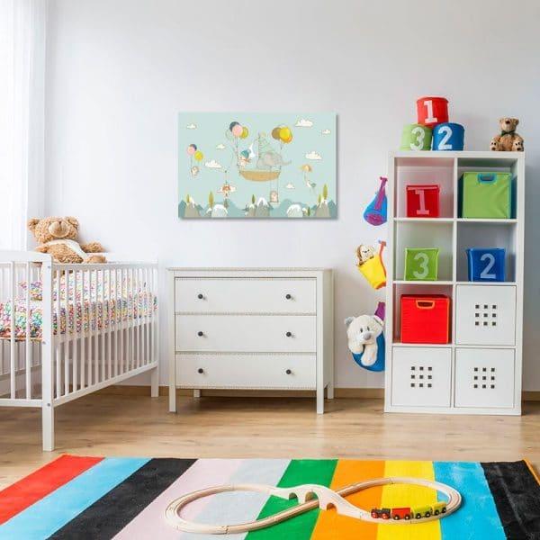 Obraz z żaglówką do pokoju dziecięcego