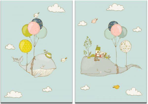 Obraz dyptyk do dekoracji pokoju dziecka