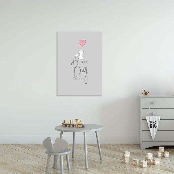 Obraz szary do pokoju dziecka