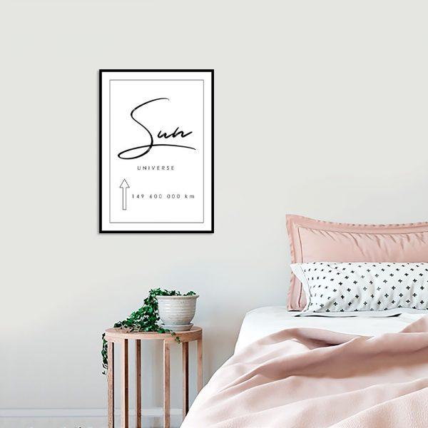 Czarno biały plakat do sypialni