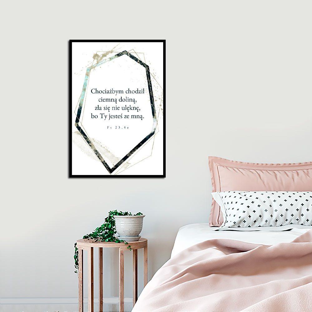 Plakat Z Cytatem Z Księgi Psalmu