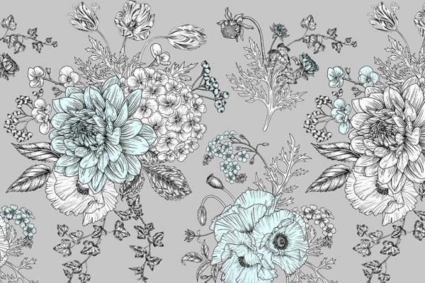 Fototapeta z motywem kwiatów