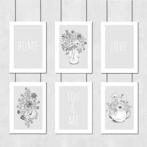 Galeria plakatów z motywem bukietów kwiatowych