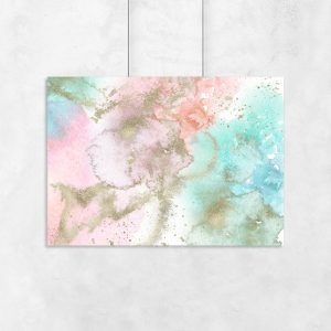 Plakat z kolorowym abstrakcyjnym wzorem