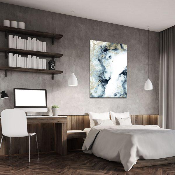 Plakat z motywem abstrakcji do sypialni