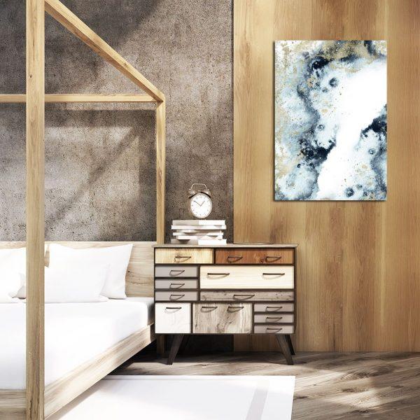 Plakat abstrakcyjny do dekoracji sypialni