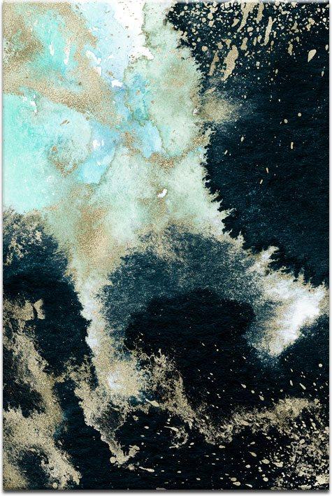 Obraz niebieski do dekoracji sypialni