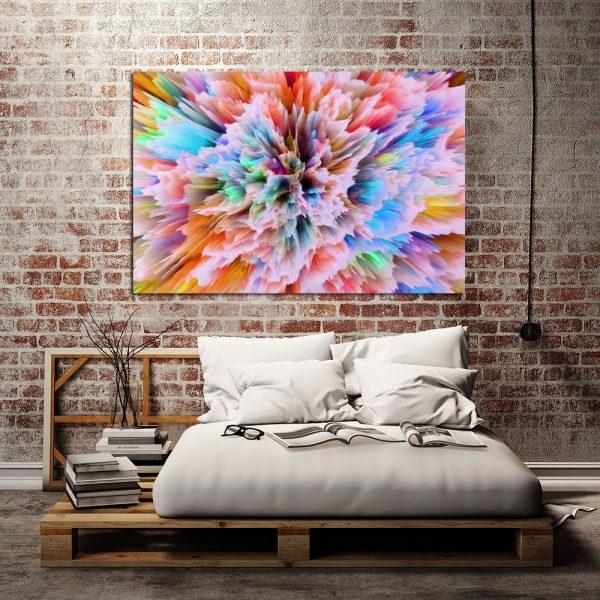 Kolorowy obraz do sypialni