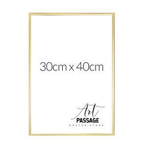Rama w kolorze złota do oprawienia plakatu 30x40
