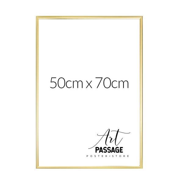 Ramka w kolorze złota do oprawienia plakatu 50x70k