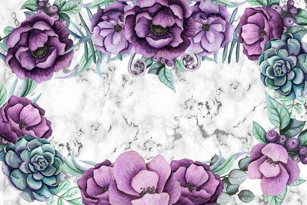 kwiaty i marmur
