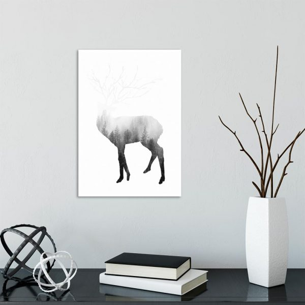plakat z motywem jelenia