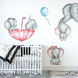naklejki ze słoniami