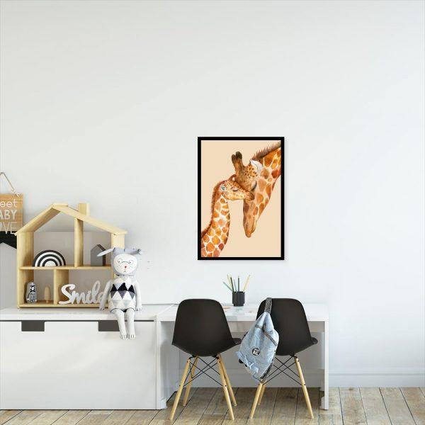 żyrafki jako plakat