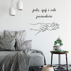 Naklejka na ścianę do salonu kosmetycznego