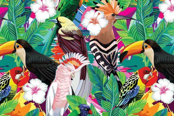 tropikalne wzory jako motyw
