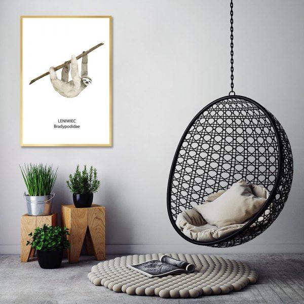 dekoracja z leniwcem