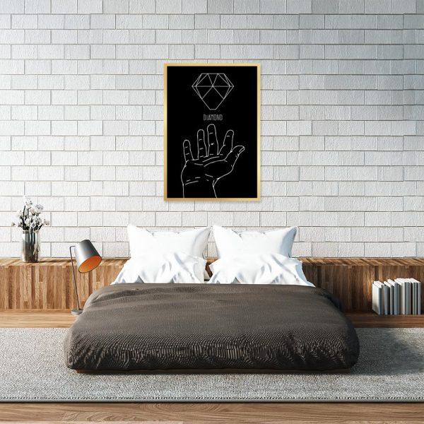 dekoracja z diamentem