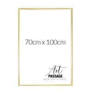 Ramka w kolorze złotym do oprawienia plakatu 70x100
