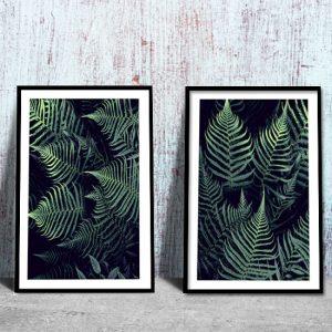 zielone plakaty z paprocią
