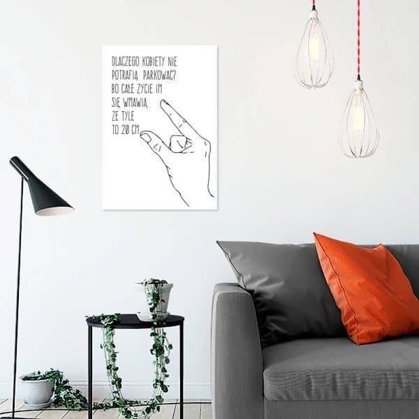 Plakat czarno-biały do salonu