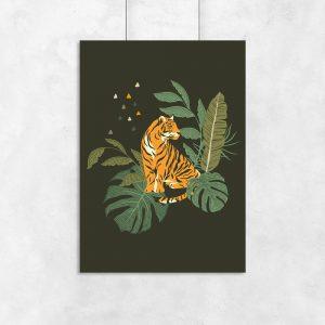 Plakat tropikalny do dekoracji salonu