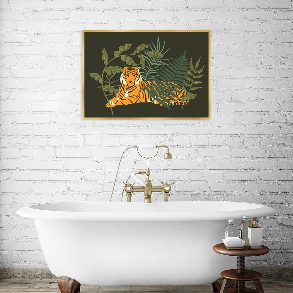 Plakat Z Ilustracją Tygrysa