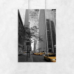 Plakat z Nowym Jorkiem do salonu