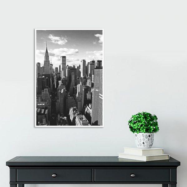 Plakat czarno-biały na korytarz