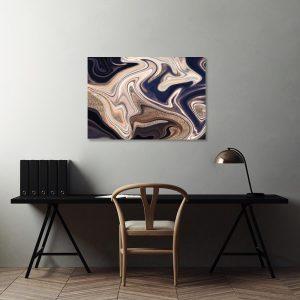 Obraz fioletowo-beżowy do biura