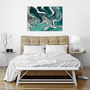 Obraz turkusowy do sypialni