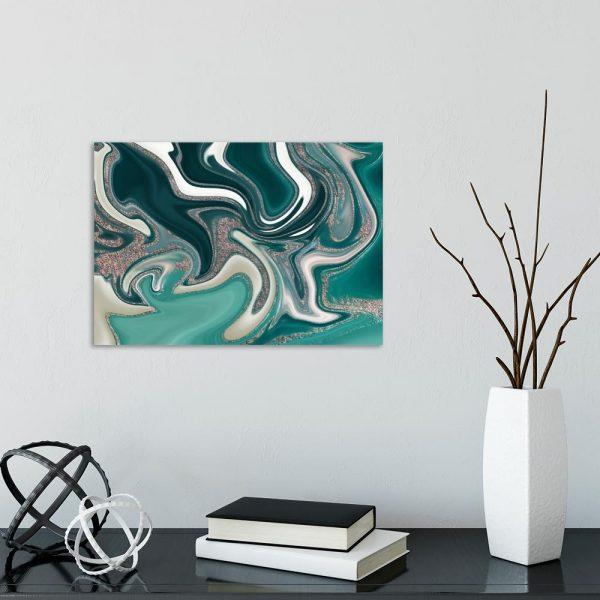 Obraz w turkusowym kolorze do salonu