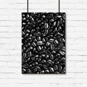 Czarno-biały plakat do dekoracji kuchni
