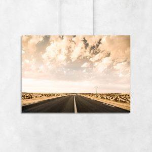Plakat droga przez pustynię
