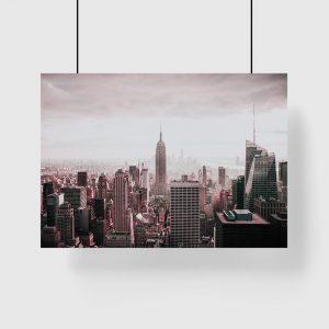 Plakat z panoramą Nowego Jorku