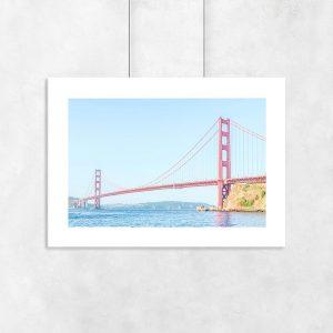 Plakat z mostem