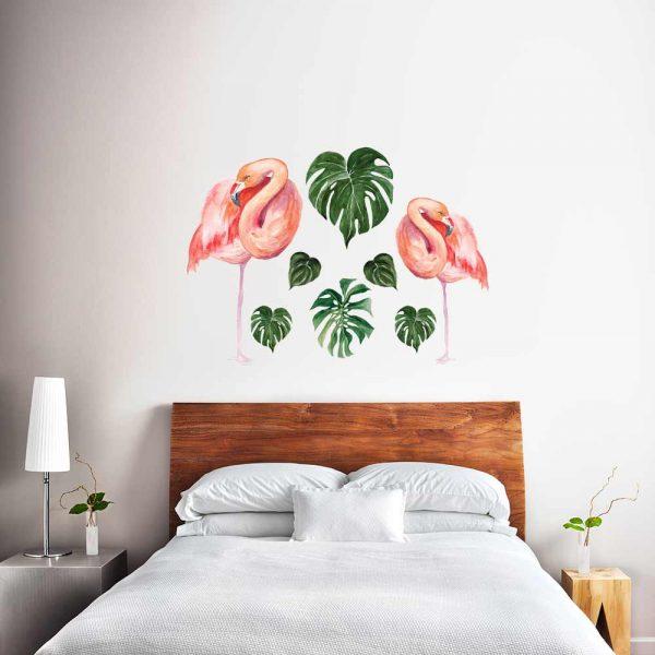 Naklejka na ścianę tropikalne liście