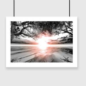 Plakat z motywem słońca