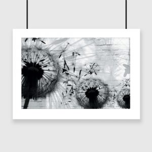 Plakat ze wzorem dmuchawców