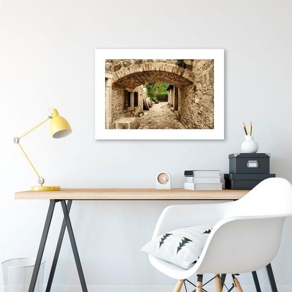 plakat z widokiem miasto w chorwacji do salonu