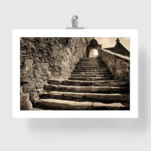 plakat ze schodami