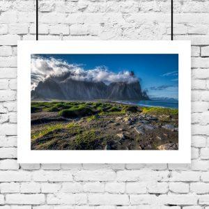plakat na wioskę w Islandii na ścianę