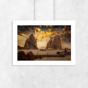 plakat z górami morskimi na ścianę